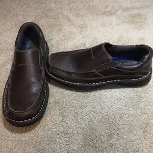 Dr. Scholl's Brown Slip-on Leather Loafers